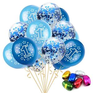 1st Birthday Latex Confetti Balloon Baby Shower Kids Happy Birthday Party Supplies