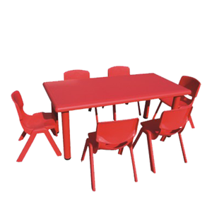 Carton Children Plastic Chair Table Kids Plastic Study Table and Chair for Children