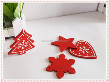 plywood laser cut christmas wooden hanging ornament for kids