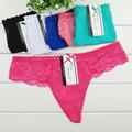 2015 חם אופנה סקסי תחרת נשים תחתונים ילדה החוטיני תחתונים ליידי T-בחזרה תחתונים 1 חתיכה משלוח חינם B34