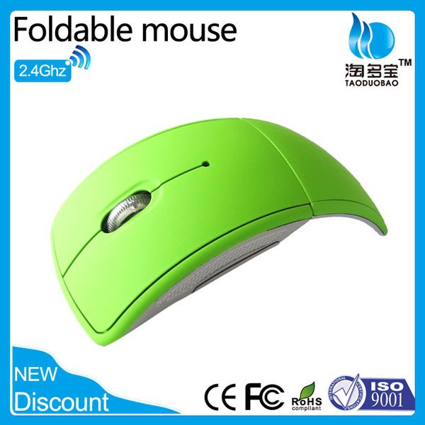 custom color 2.4ghz foldable usb wireless desktop mouse