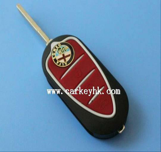 Folding Flip Remote Key Shell for Alfa Romeo Mito Giulietta 159 GTA Replacement