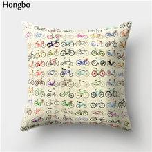 Хунбо 1 шт. мультяшная подушка для велосипеда с принтом подушка для кровати поясная подушка для кафе Чехол для автомобильного дивана домашн...(Китай)