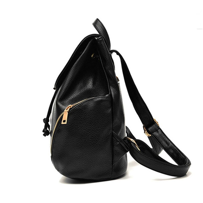 deffd2530f0 Fashion backpacks for teen girls PU leather fashion women backpack solid  color flip-open cover