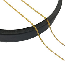 18inch Stainless Steel Necklace Accessories Metal Jewelry Making Gold Rolo Chain