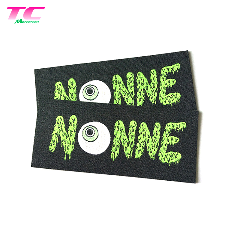 Custom Colorful Etiquette Textile Woven Label End Folded Textile Labels For Clothes