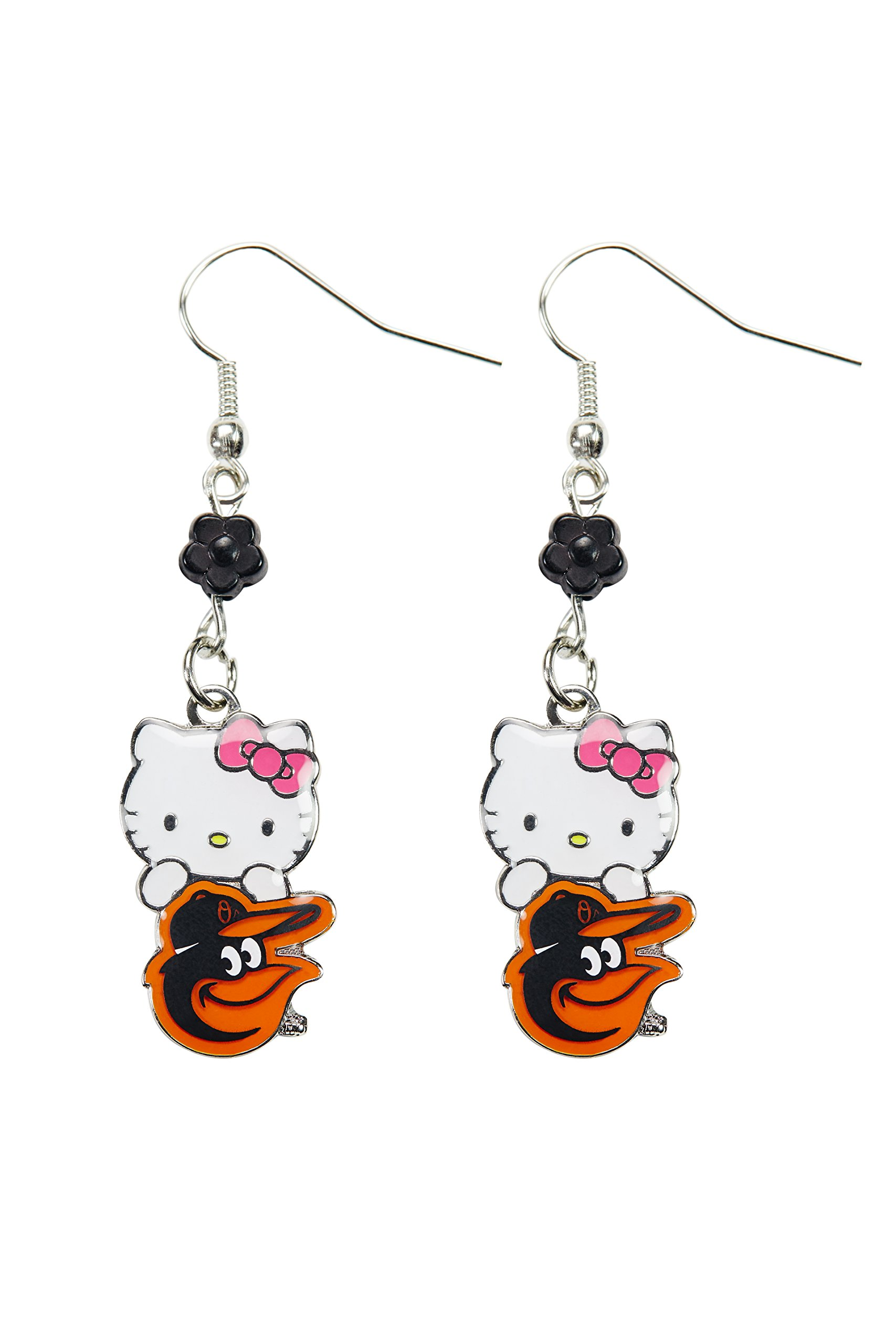812487828 Get Quotations · MLB Baltimore Orioles Hello Kitty Sophie Beaded Earrings