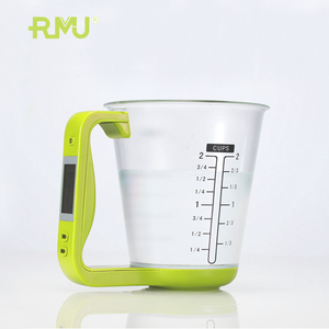 New design plastic digital weighing scale measuring cup set with food grade