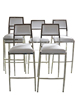 Stainless steel event bar stool with leather seat XYN5916