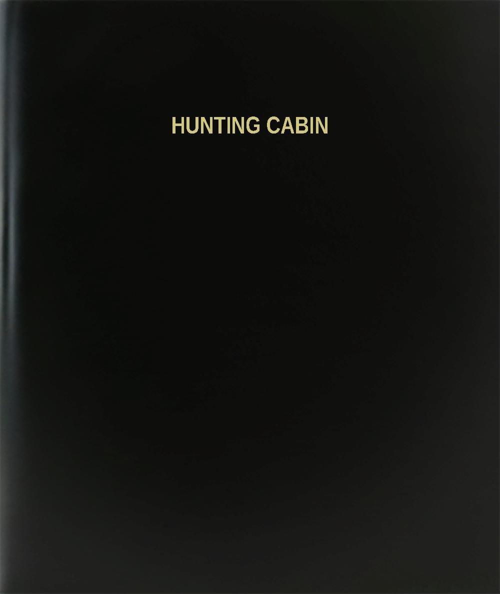 "BookFactory® Hunting Cabin Log Book / Journal / Logbook - 120 Page, 8.5""x11"", Black Hardbound (XLog-120-7CS-A-L-Black(Hunting Cabin Log Book))"