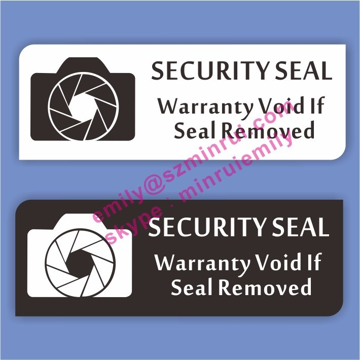 Custom warranty sticker void camera security <strong>labels</strong>, tamper resistant camera sticker void <strong>label</strong> printing services from China