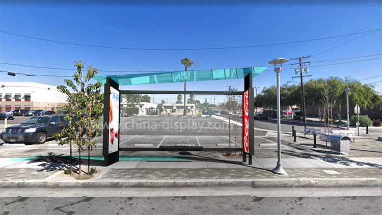 customized stainless steel common bus rain shed stop station bus shelter bus stop smart city outdoor furniture