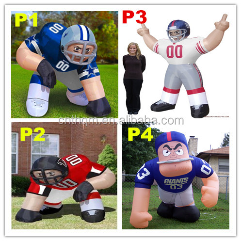 nfl inflatable player lawn figure,bubba player,football player