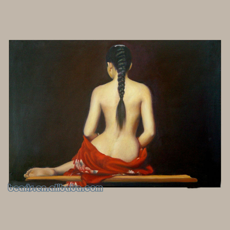 Pure hand-painted high quality classic china naked girls photos to painting