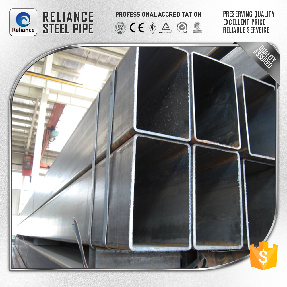 black hollow section structure steel pipe tube for buildings