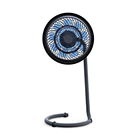 portable pedestal table circulation plastic brushless dc portable mini fan 12v electric stand fan