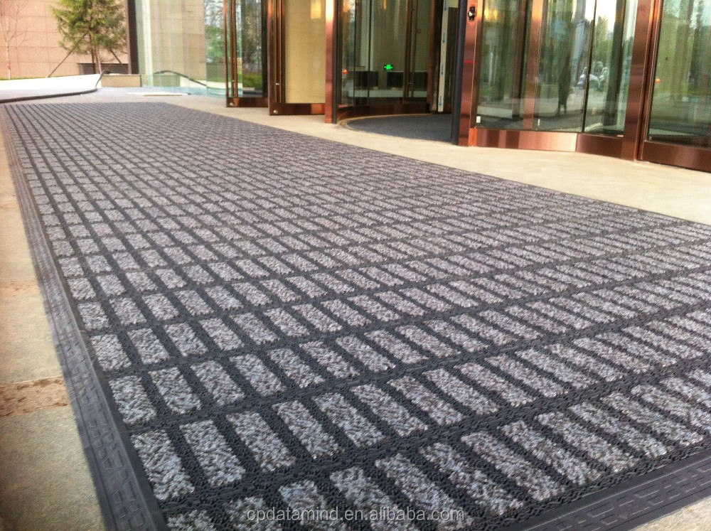 waterproof best dust control interlocking entrance mats with carpet cover