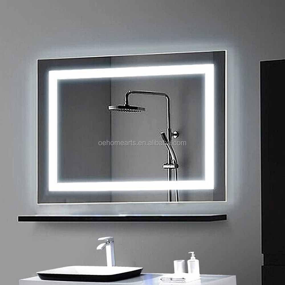 Montado en la pared ba o iluminado retroiluminada led - Banos con paredes de cristal ...