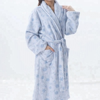 fea5692451 Fancy women microfiber bathrobe