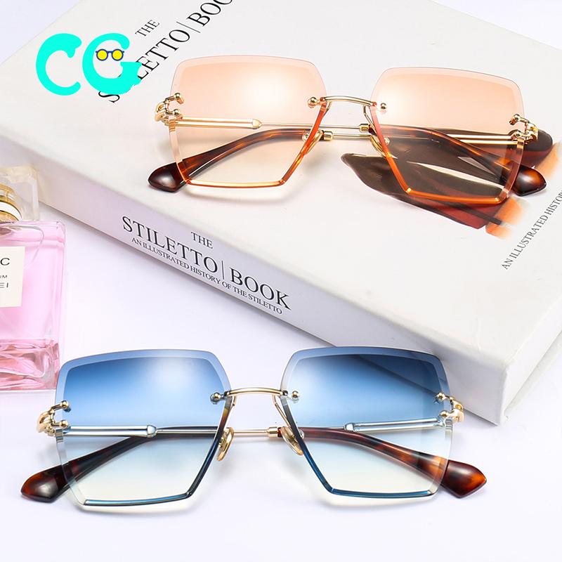 Sunglasses Women Brand Designer sandbeach drive Retro Rimless Glasses HD Lens Eyewear Ladies New Fashion UV400 Sun Glasses 18600 фото