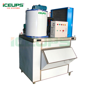 Professional flake ice machine daily output 1ton a day with CE approved. PLC control system made in China