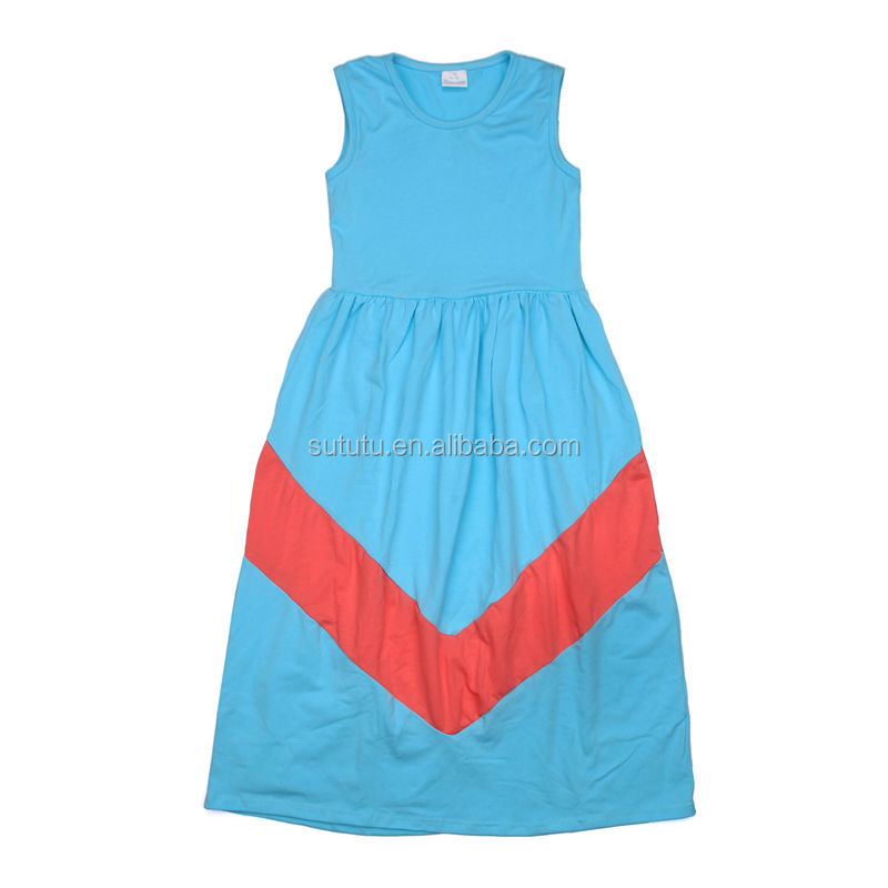 wholesale 2014 summer baby girl's beach dress chevron boutique dress kids sleeveless dress