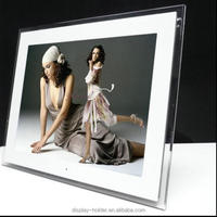 Acrylic display with digital photo frame displayer for advertising