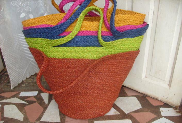 bolsa y color de color rafia Ganchillo azul de verde naranja v4wqnd