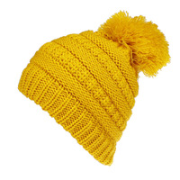 KR186 Hot selling acrylic winter children hat with pom