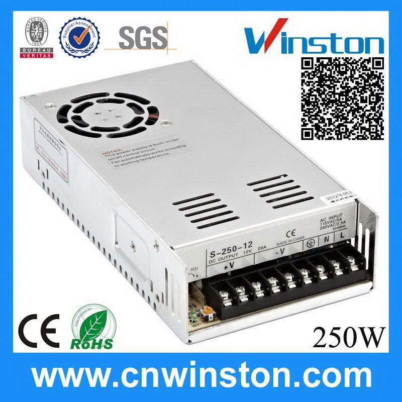 Hotsale high power 250w ac/dc power supplies 24vdc
