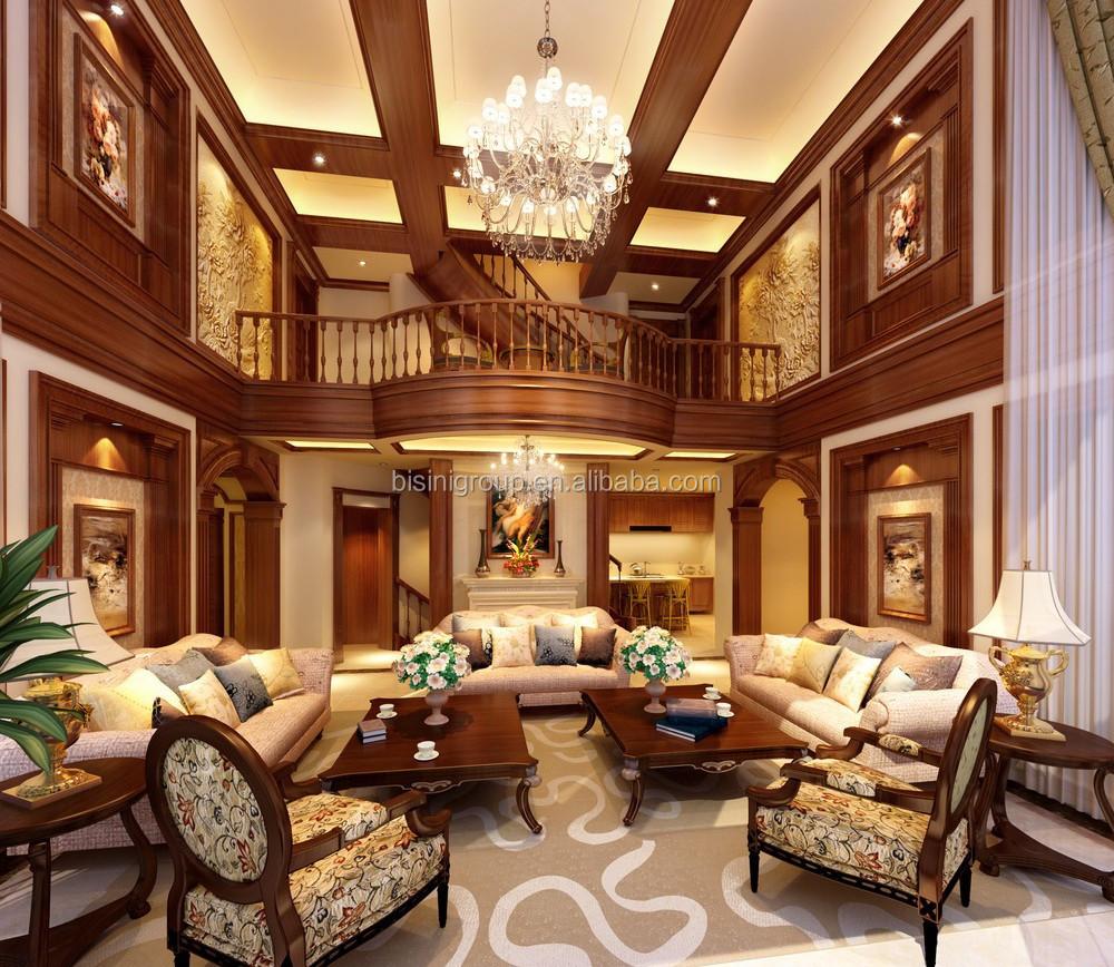 Luxury European Interior 3d Rendering Design Of Golden Column And