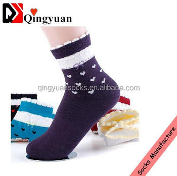 OEM fuzzy women design socks women colorful 100% pure cotton socks