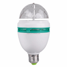 new arrival RGB color rotated led light party lamp CE &RoHS led stage disco light bulb