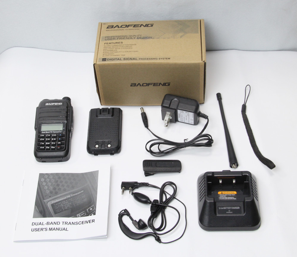 walkie talkie gama 10 km Baofeng UV-6 walkie talkie de longo alcance Baofeng walkie talkies com Inglês Manual do Utilizador