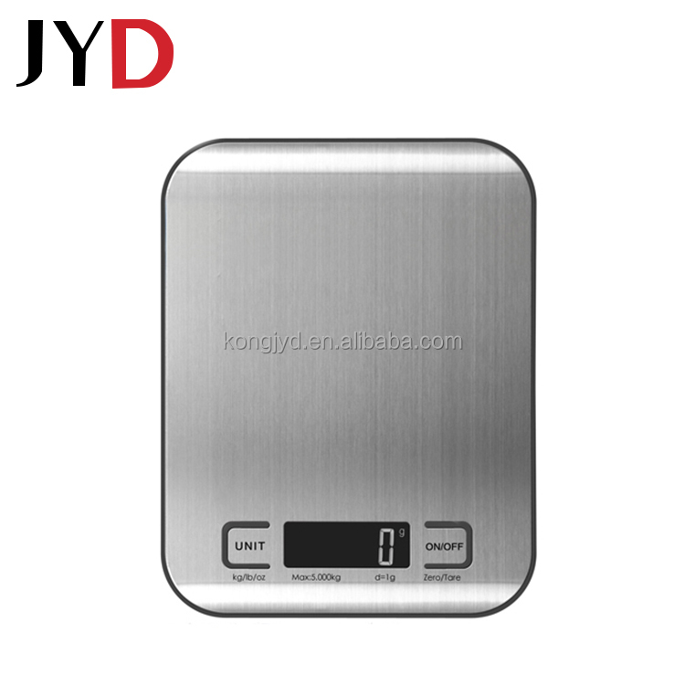 JYD EKS18 New Precision Digital Easy To Quickly Weigh Ingredients Or Food Items Stainless Steel Slim Kitchen Scales