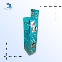 hot sale supermarket and chain store 3 tiers cardboard corrugated plastic display stand