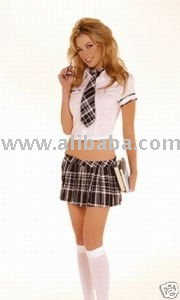 Fancy Dress Sexy School Girl Costume Outfit College