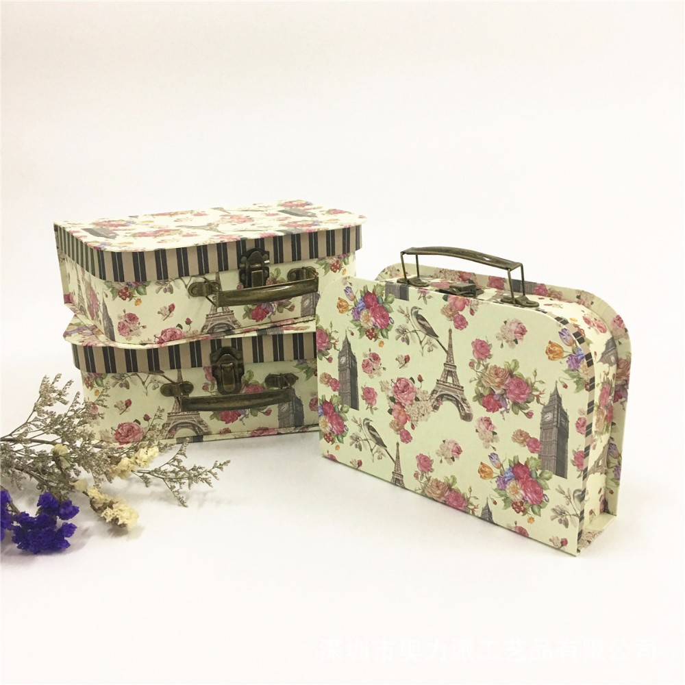 paper suitcase box paper luggage box kraft paper cardboard suitcase box