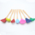 7Pcs Colorful Wooden Handle Silicone Kitchen Cooking Utensil Set