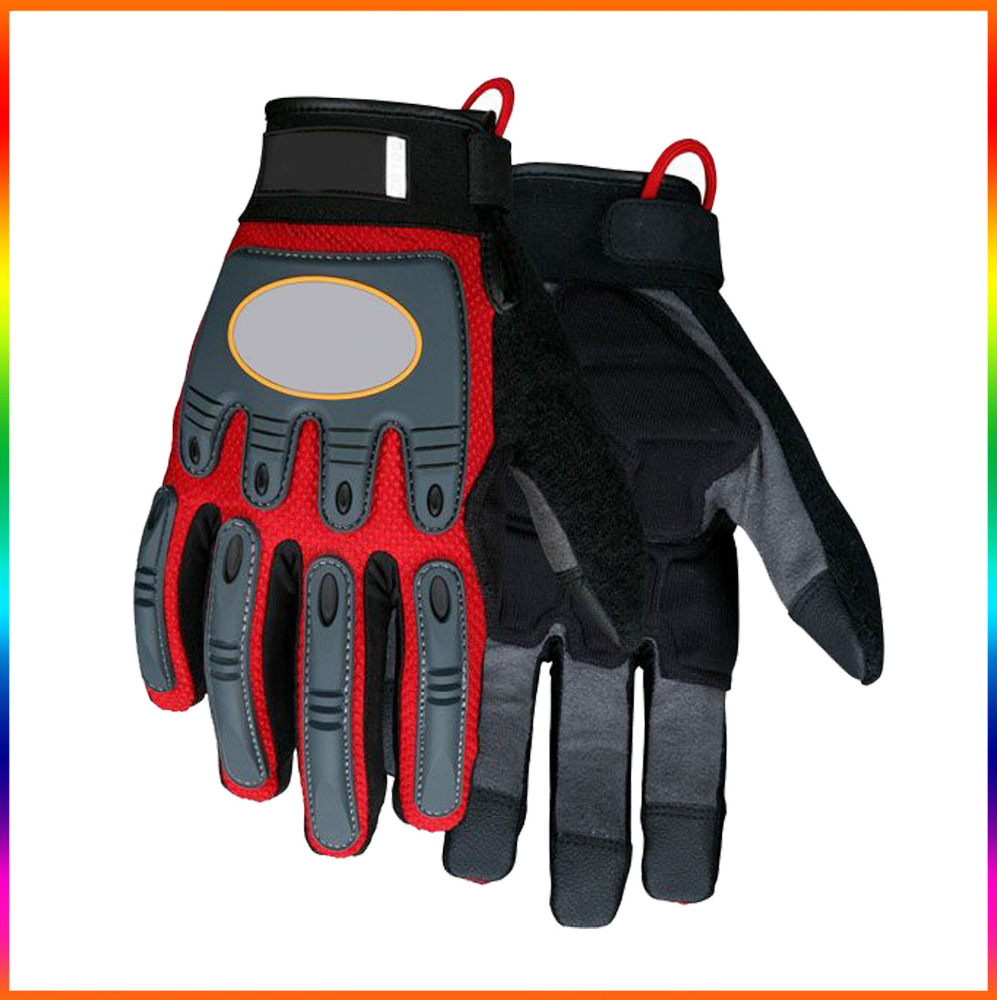 Hot sale work gloves impact protection Molded TPR padded back/ Multi-task Work gloves abrasion resistant For Heavy duty