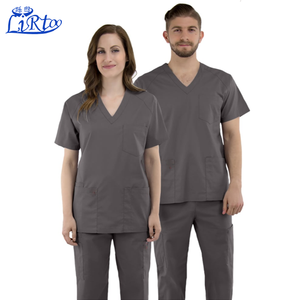Fashion unisex hospital clothing nurse uniform vest with v neck