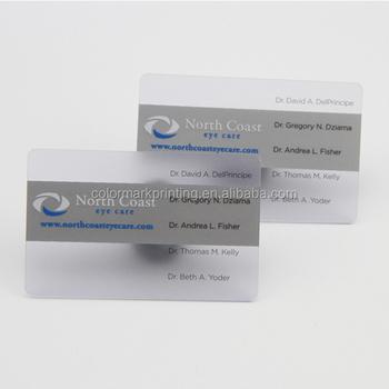 Custom Kunststoff Pvc Transparent Klar Gedruckt Visitenkarte Druck Buy Klar Gedruckt Visitenkarte Nach Cr80 Silber Folie Transparent