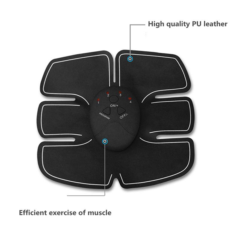 Electric Abdominal Muscle Body Massager Six Pads Wireless EMS Muscle Stimulator