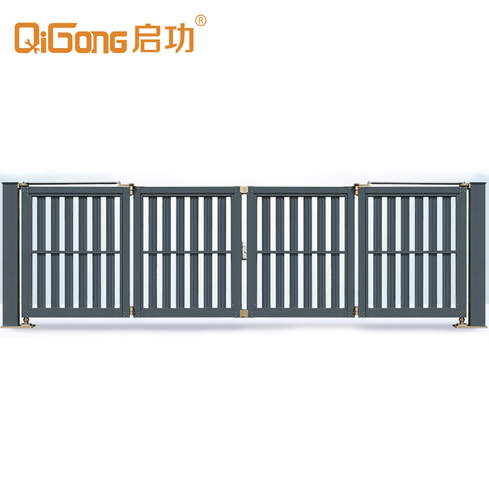 commercial double opening folding gate hanging gate factory entrance swing gate