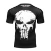 2017 Cody Lundin Clothing Men Sports Wear Marvel Hero 3D Punisher Skull Compression Fitness Tights T Shirt