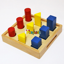 2017 wholesale educational baby wooden Montessori toys kids wooden Montessori toys best toddlers wooden Montessori toys W12F011
