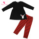 new item arrival fashion kids clothing sets long sleeve cotton christmas outfits children clothing sets