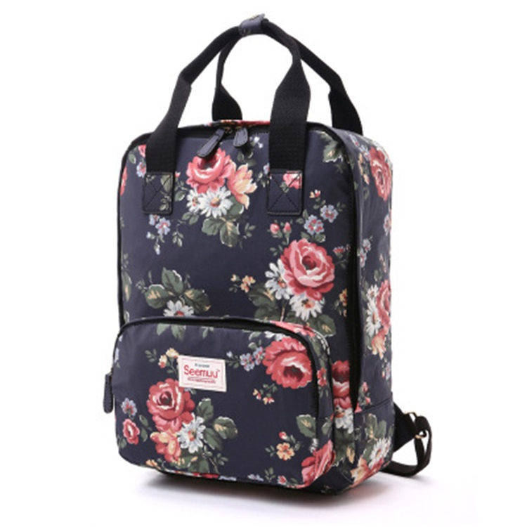 Factory Customize Women Floral <strong>Backpack</strong> 2018 Hot Floral Patterns Lady Laptop <strong>Backpack</strong>
