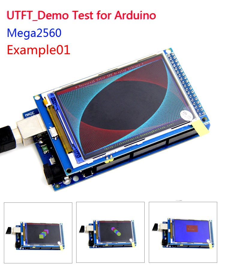 3.2 inch TFT LCD screen module 3.2'' HD 320X480 For MEGA2560 R3 STM32 C51 Demo Board