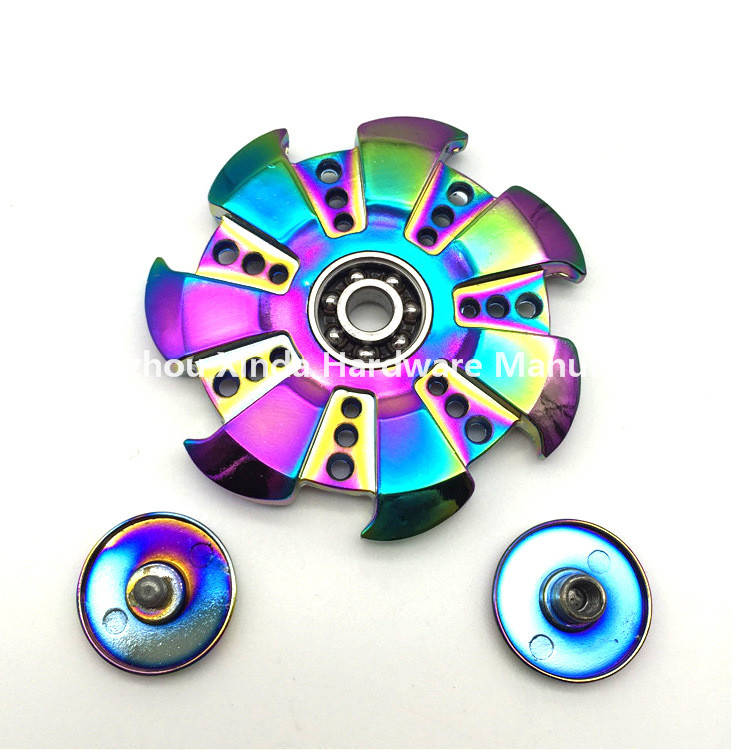 Rainbow colour fingertips gyro Large wind turbines zinc alloy fingertips gyro /NEO colour Hand Spinner Fidget wholesale